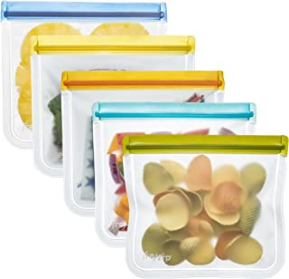 rezip Lay-Flat Lunch Leakproof Reusable Storage Bag (Multi Color) by rezip