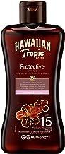 Hawaiian Tropic Tanning Oil MINI - Aceite Bronceador Solar con Protección SPF 15, Acelerador del Bronceado con Fragancia Tropical, Formato Viaje 100 ml