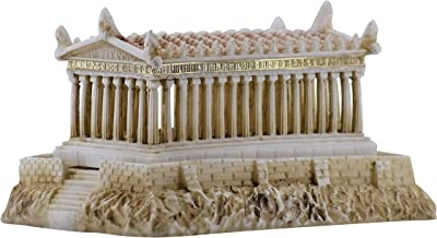 Parthenon Temple of Greek Goddess Athena Statue Sculpture Hand Painted