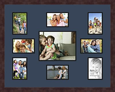 Art to Frames Double-Multimat-357-776//89-FRBW26079 Collage Photo Frame Double Mat with 6-5x7 Openings and Satin Black Frame