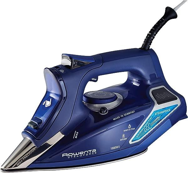 Rowenta DW9280 Digital Display Steam Iron Stainless Steel Soleplate 1800 Watt 400 Hole Blue