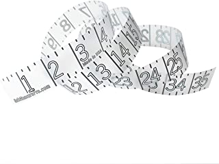 Measuring Sticker Fish Ruler - Transparent - Self Adhesive Tape Measure - Clean Design for Fishing Boat, Kayak, Paddleboard, Cooler, Workbench - Clear Waterproof Decal - Made in USA - 36