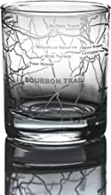 Greenline Goods Whiskey Glasses - Bourbon Trail Kentucky Whisky (Single Glass) - Etched 10 oz Tumbler Gift with Bourbon Tr...