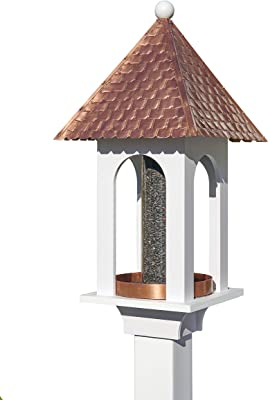 Good Directions 42305 Seed Capacity Bird Feeder with Pure Copper Roof, Composite PVC Base, XL, Gold