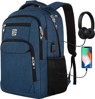 marcello Laptop Rucksäcke mit USB-Ladeanschluss Herren Damen für Arbeit Schule Uni Schulrucksack für Jungen Teenager mit L...