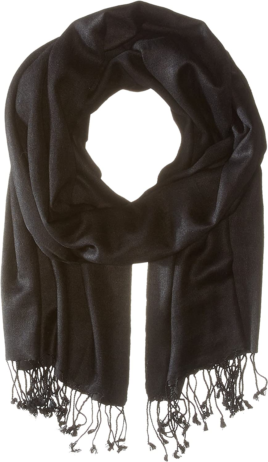 Betsey Johnson Women's Cashmere Silk Real Pashmina Black Scarf One Size