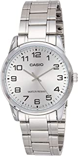 Casio Men's Silver Dial Stainless Steel Analog Watch - MTP-V001D-7BUDF