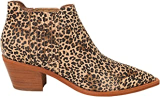 Dolce Vita Women's Shana Fashion Boot, TAN/BLACK DUSTED LEOPARD SUEDE, 8.5