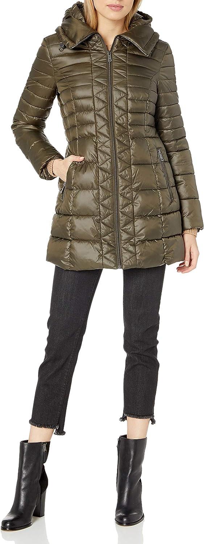 Kenneth Cole New York Women's 3 w 4 Front Discount mail order Lightweight Zip Puffer Regular discount