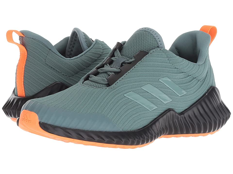 adidas Kids FortaRun (Little Kid/Big Kid) (Raw Green/Hi-Res Orange/Black) Boys Shoes