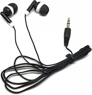 TFD Supplies Wholesale Bulk Earbuds Headphones 500 Pack for iPhone, Android, MP3 Player - Black