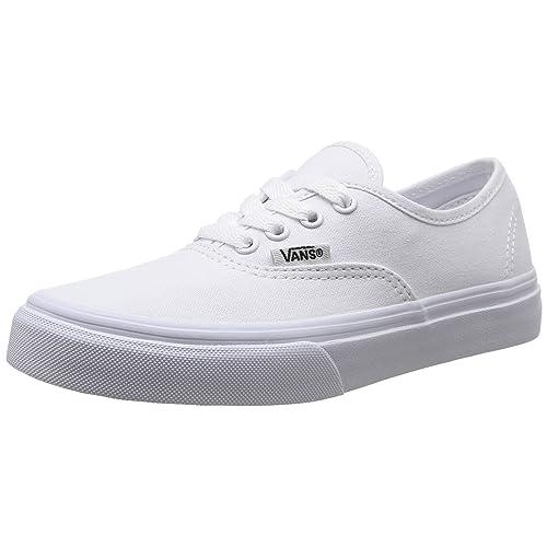 56d6f951448a55 Vans Kids Authentic True White Skate Shoe