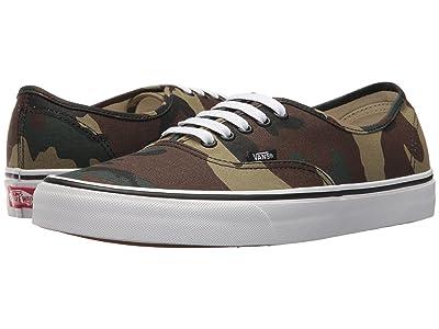 Vans Authentictm ((Woodland Camo) Black/Woodland) Skate Shoes
