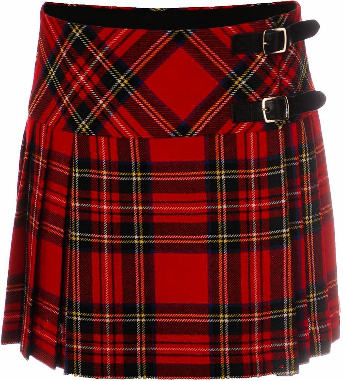 ILuv Ladies Deluxe Billie Kilt Skirt in Royal Stewart Tartan