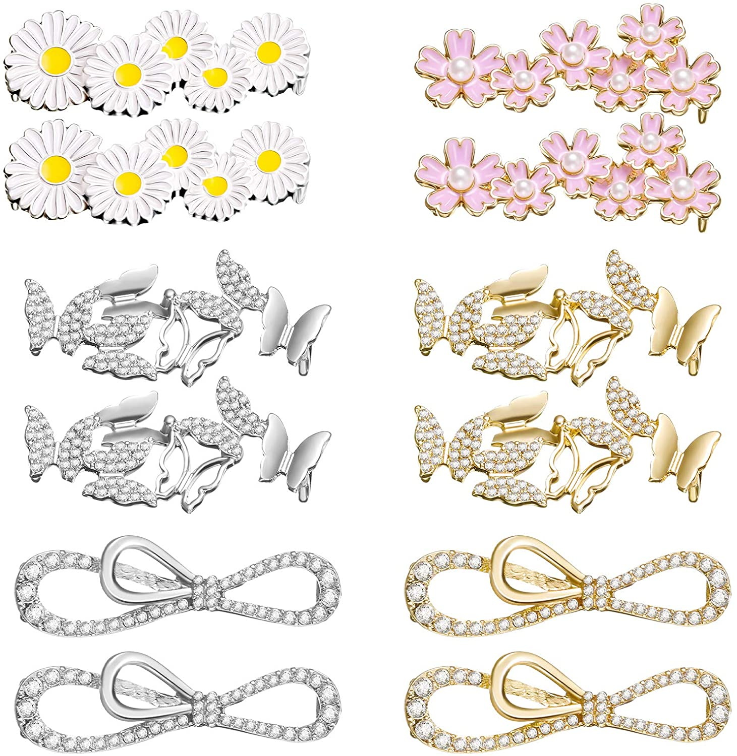 Fort Worth Mall 12 Pieces Shoelaces Clips Decorations Shoe Charm Rhine DIY New product!!