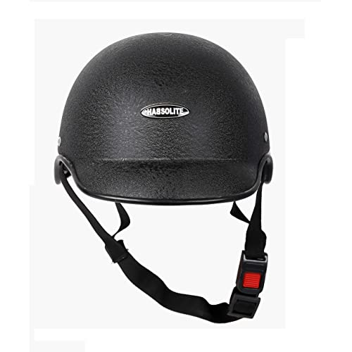 Motofy Hadsolite All Purpose Safety Helmet with Long Strap (Black, Free Size)