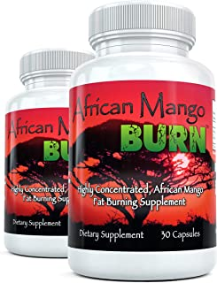 African Mango Burn (2 Bottles) - The Ultimate African Mango Fat Burning Supplement. Pure Irvingia Gabonensis Weight Loss, ...