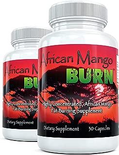 African Mango Burn (2 Bottles) - The Ultimate African Mango Fat Burning Supplement. Pure Irvingia Gabonensis Weight Loss, Appetite Suppressing Diet Pills (1200mg)