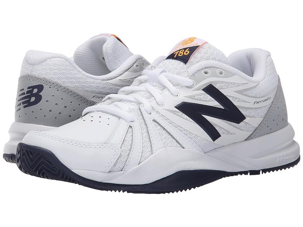 拮抗で出来ているサイレント(ニューバランス) New Balance レディーステニスシューズ?スニーカー?靴 WC786v2 White/Blue 6 (23cm) D - Wide