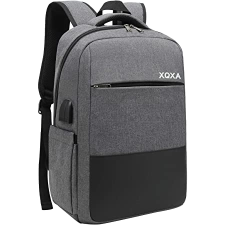 XQXA Zaino PC Portatili,Zaino con tasca antifurto Impermeabile Zaino per Laptop con Porta USB,Zaino per Computer Affari da 15.6 Pollici Notebook,Zaino Lavoro Uomo per Casual Scuola Viaggio