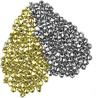 YINETTECH - 200 cascabeles de Metal chapados en níquel para decoración de Navidad, árbol de
