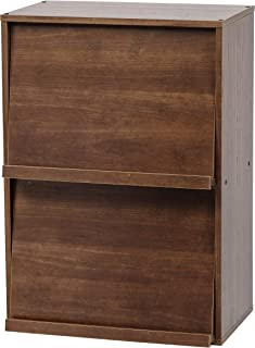 Amazon merk Movian Module Furniture CHR-2 lagereenheid 2 nissen met vouw- en schuifdeuren, ontworpen hout, donker eiken