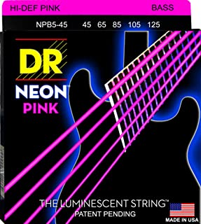 DR Strings HI-DEF NEON Bass Guitar Strings (NPB5-45)