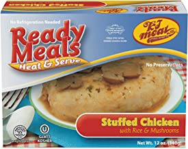 Kosher Meals Ready to Eat, Kosher Stuffed Chicken Breast with Rice and Mushrooms (Microwavable, Shelf Stable) – Gluten Free, Dairy Free, Egg Free - Glatt Kosher (12 ounce - Pack of 1)