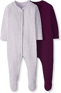 NUOVO!!! soft-cotone grigio con rosa o viola TUTA del sonno di Petit Bateau