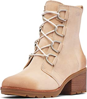 Women's Cate Lace Waterproof Ankle Boot with Stacked Heel