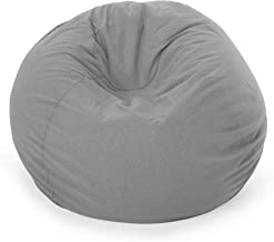 Christopher Knight Home Poppy Indoor Water Resistant 4.5' Bean Bag, Charcoal