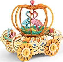 3D Wooden Music Box for Adults and Kids Ages 12-14 Years Old Pumpkin DIY Wood Craft Kits 148Pcs Colorful Rotating Wood Puzzles Best Birthday for Women and Girls