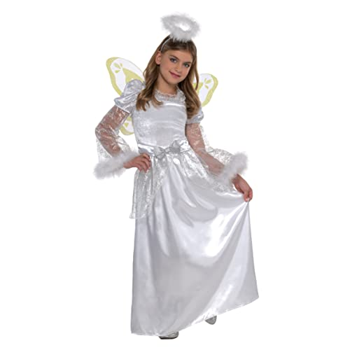 1ac28aecbc00 Xmas Angel Girls Fancy Dress Festive Nativity Play Kids Childrens Costume