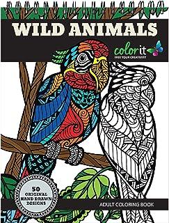 ColorIt Cahier de coloriage Animaux Sauvages: Prime relié avec Albums Reliure Spirale grandi Coloring Book