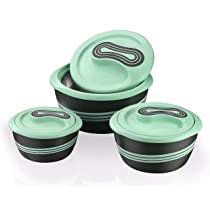 Pinnacle Stainless Steel Contemporary Casserole – 500ml, Set Of 3, Pastel Green