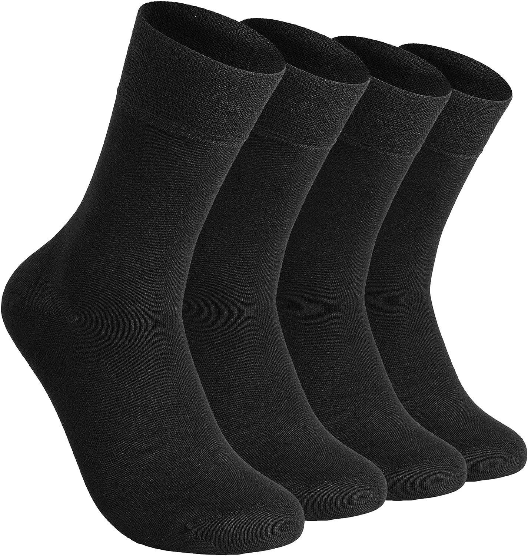 ELCHEE Lightweight Organic Bamboo Women and Men Dress Trouser Socks | Moisture Wicking | Odor Resist Soft Casual