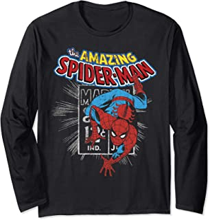 The Amazing Spider-Man Vintage Comic Poster Long Sleeve T-Shirt