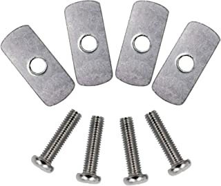 YYST Kayak Rail/Track Screws & Track Nuts Hardware Gear Mounting Replacement Kit for Kayaks Canoes Boats Rails W 1/4 inch - 20 Threads