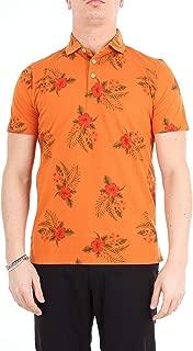 HERITAGE Luxury Fashion Mens 0815PZEARANCIONE Orange Polo Shirt | Season Outlet