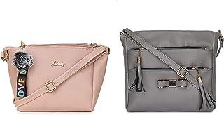 Glossy Girl's/Women's Sling Bag - Pack of 2
