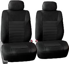 FH Group FB068BLACK102 Half Black Universal Bucket Seat Cover (Premium 3D Air mesh Design Airbag Compatible)