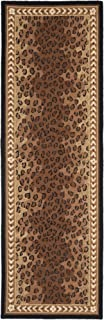Safavieh Chelsea Collection HK15A Hand-Hooked Black and Brown Premium Wool Runner (2'6