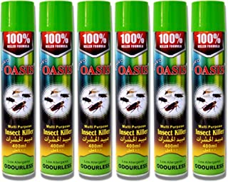 Enviro Oasis Multi purpose Low Allergenic Odourless Insect Killer Spray, 100% Mosquito, Fly, Cockroach Killer Formula 400m...