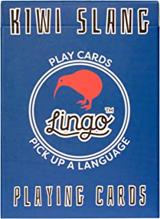 Lingo Slang Playing Cards | Language Learning Game Set | Fun Visual Flashcard Deck to Increase Vocabulary and Pronunciation Skills