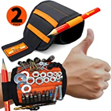 MyToolOn 2 Pack of Magnetic Wristband for Holding Screws, Nails, Drill Bits, Handyman..