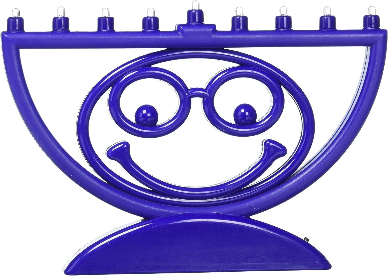 Rite Lite Chanukkah MENOJI Menorah, LED Makes You Smile Electric Menorah Unique Hanukkah Menorah 8.75