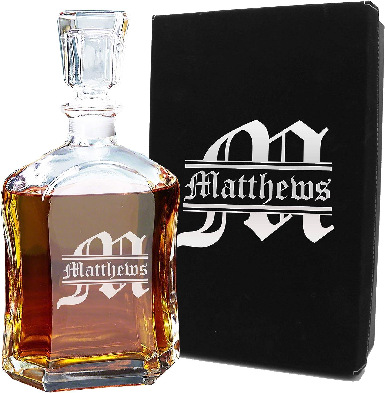 Personalized Award Whiskey Decanter free Custom Liquor - Engraved
