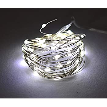 Tu Casa DW-423 - LED Copper Wire String Light Battery Operated - 5 Mtrs - White