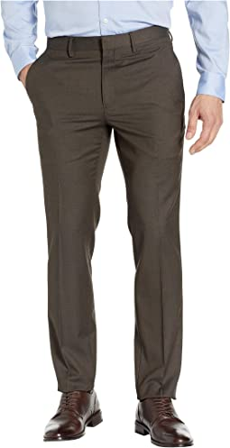 Stretch Textured Weave Slim Fit Dress Pants