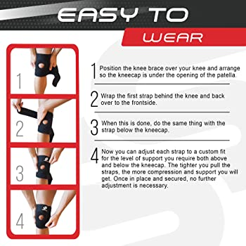 Sleeve Stars Knee Support Brace for Joint Pain Relief - Knee Brace for LCL, MCL, ACL, Arthritis, Meniscus Tear, Dislo...